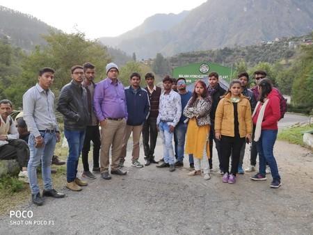 Btech students visited at  MALANA POWER PLANT , himachal pradesh